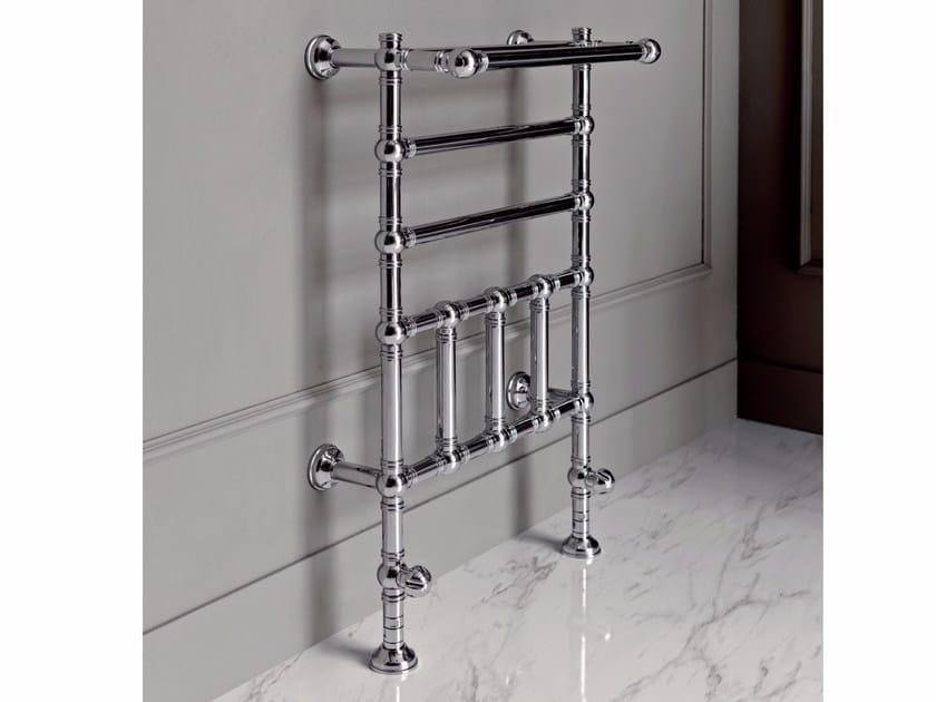 Chrome floor-standing towel warmer BRENT 2 by BATH&BATH