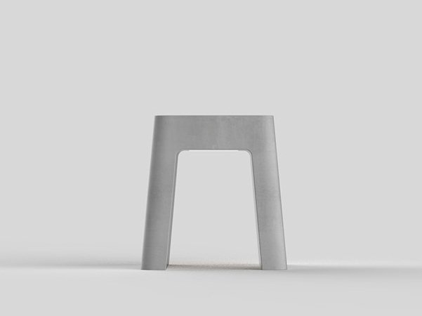 Cement outdoor chair BRENTA | Outdoor chair by Neri