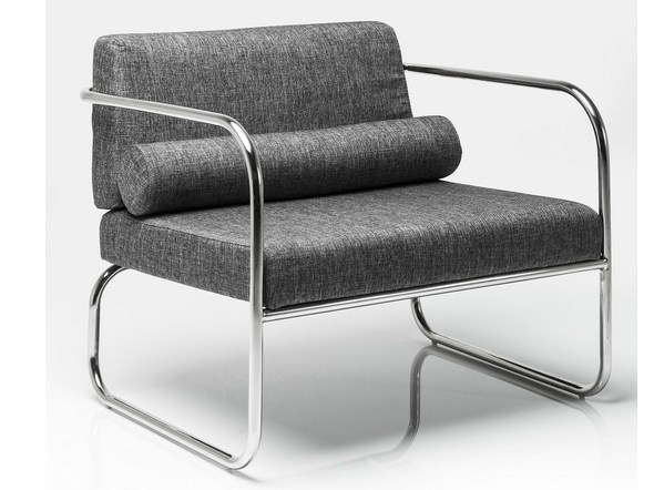 Sled base fabric armchair with armrests BRENTWOOD by KARE-DESIGN