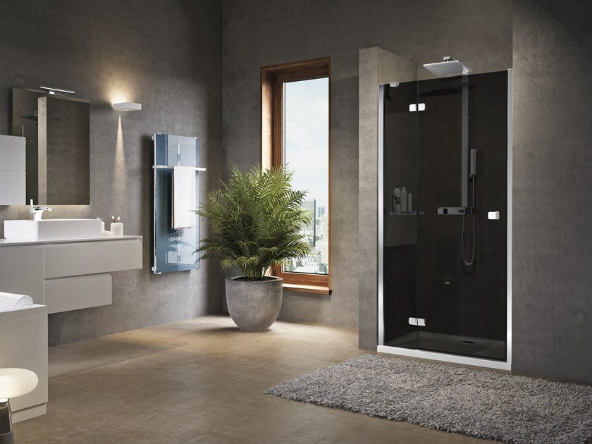 Niche shower cabin with hinged door BRERA G by NOVELLINI