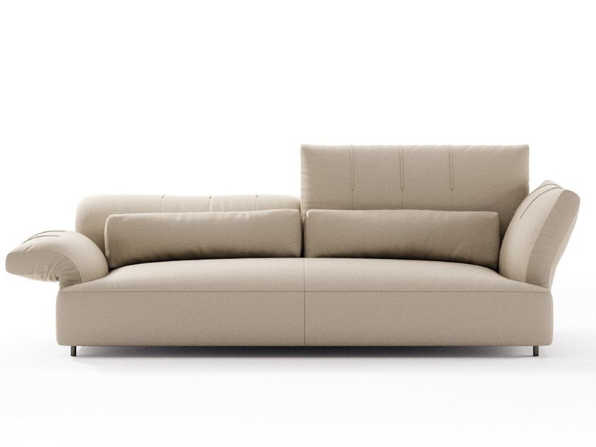 Sectional leather sofa BRERA | 2 seater sofa by NICOLINE