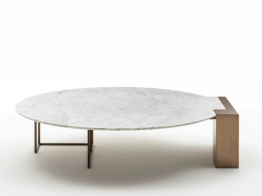 Low marble coffee table BRERA | Round coffee table by OAK