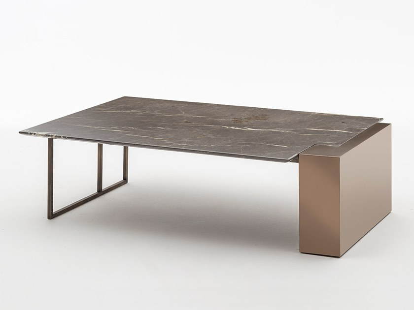 Low marble coffee table BRERA | Marble coffee table by OAK