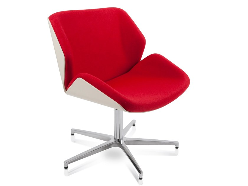 Fabric chair with 4-spoke base BRESCIA | Upholstered chair by AP Factor