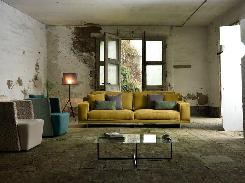 3 seater fabric sofa BRESSON | 3 seater sofa by Domingo Salotti