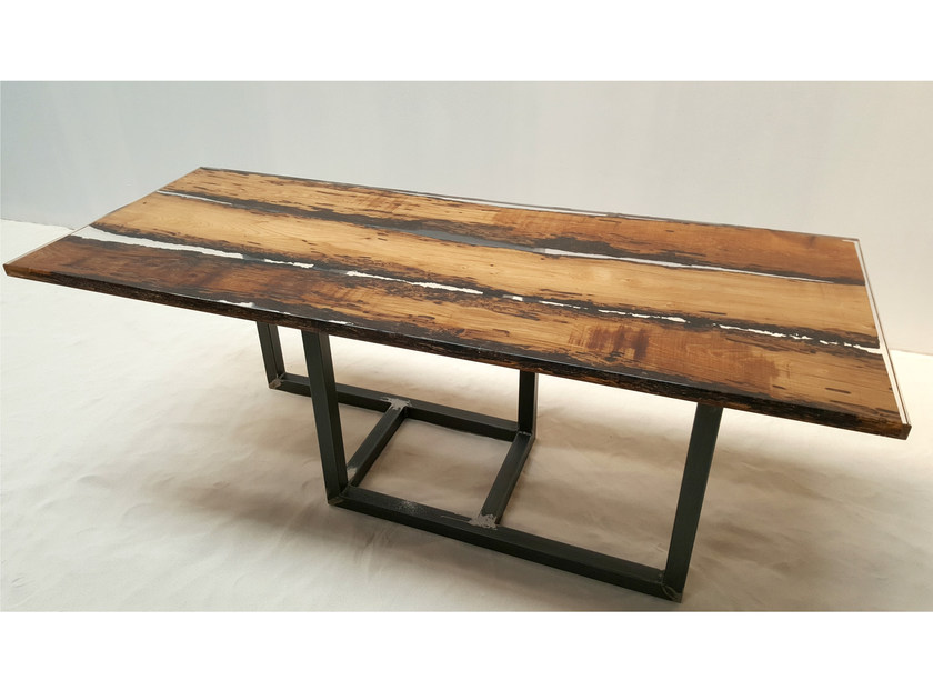 briccola wood table by azimut-resine