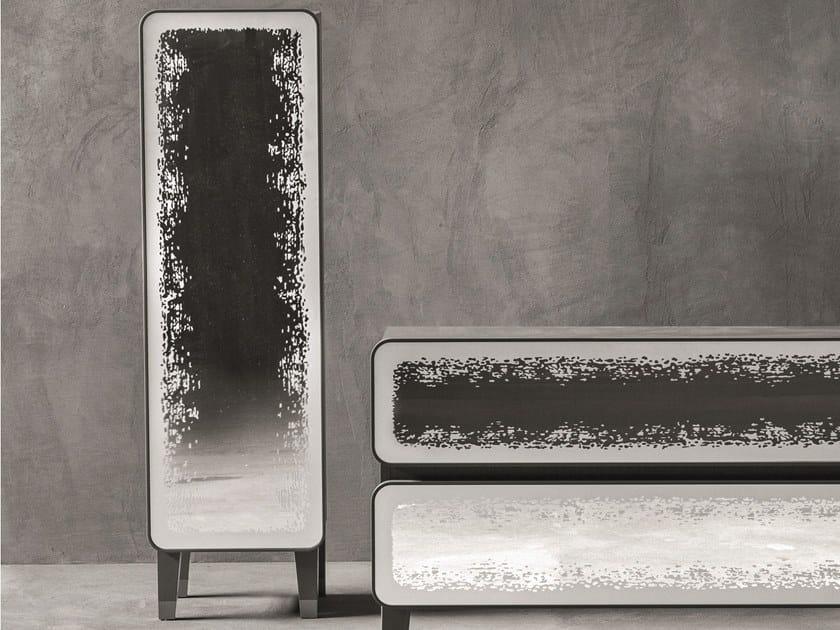 Walnut wardrobe with 1 door BRICK 66 | Walnut wardrobe by Gervasoni