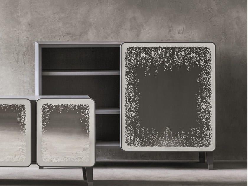 Walnut highboard with doors BRICK 67 | Walnut highboard by Gervasoni