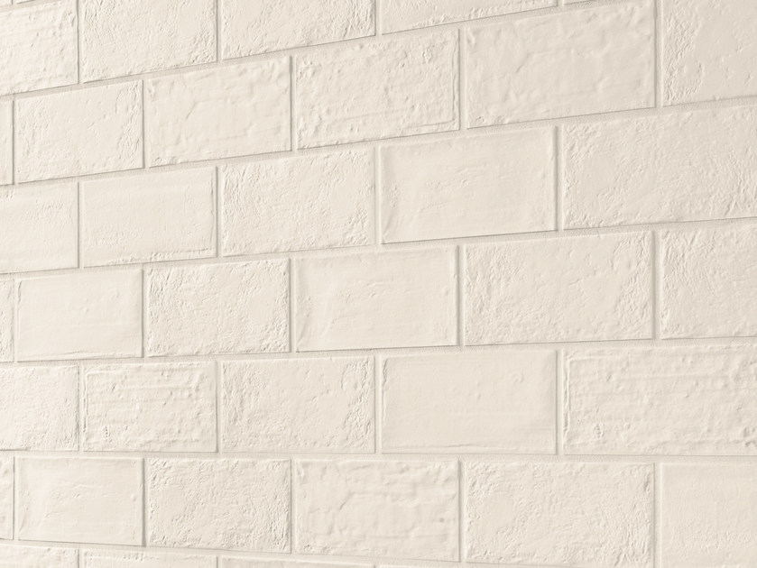 Indoor porcelain stoneware wall/floor tiles with brick effect BRICK DESIGN GESSO by EmilCeramica by Emilgroup
