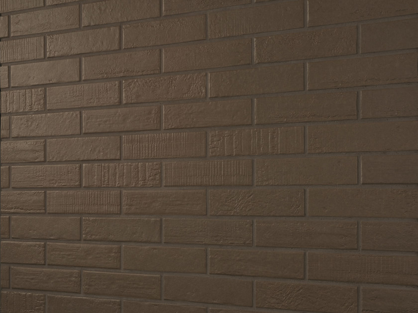 Porcelain stoneware wall/floor tiles with brick effect BRICK DESIGN MOKKA by EmilCeramica by Emilgroup