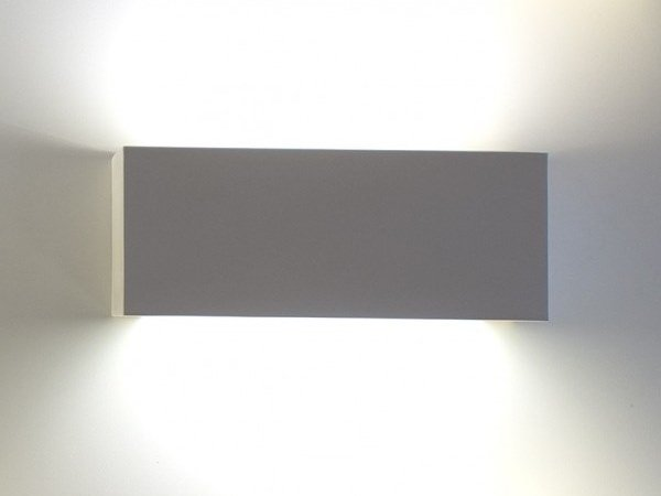 Direct-indirect light plaster wall light BRICK | Direct-indirect light wall light by GESSO