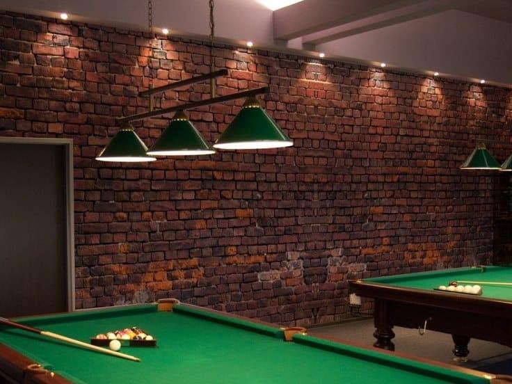 Brick effect panoramic JET TEX wallpaper BRICK EFFECT by ACTE-DECO