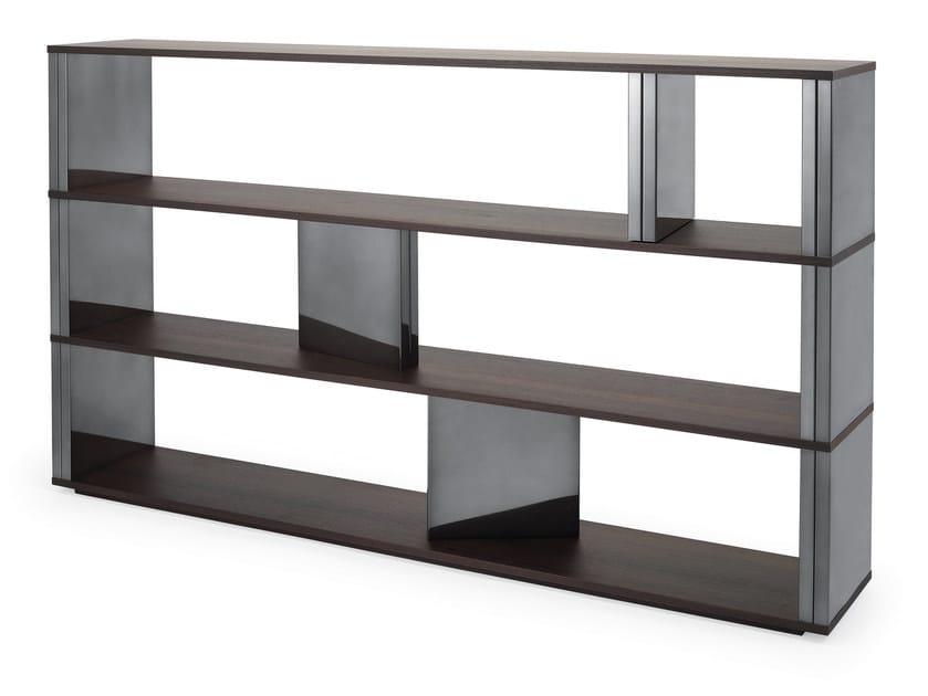 Sectional wood veneer shelving unit BRICK by HMD INTERIORS