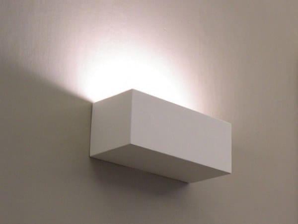 Applique a luce indiretta in gesso brick up gesso