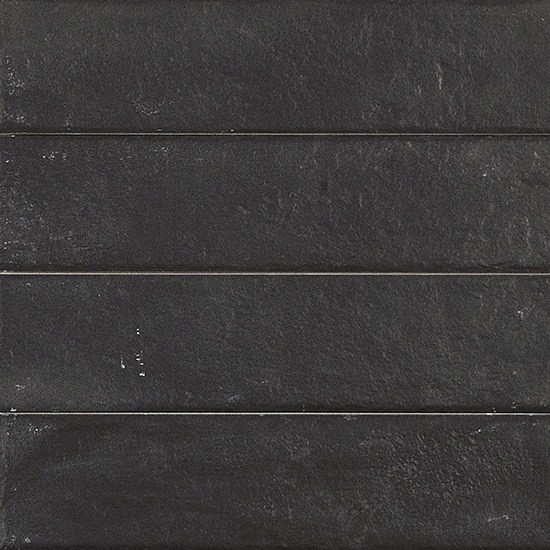 Porcelain stoneware wall/floor tiles with stone effect BRICKLANE TOTAL BLACK by Ceramiche Coem