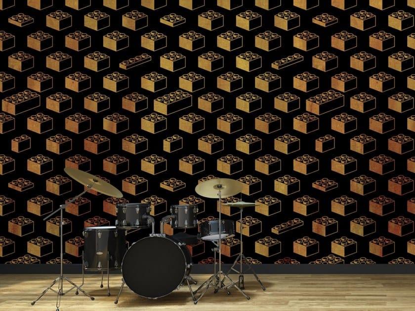 Motif fire retardant washable wallpaper BRICKS by Baboon