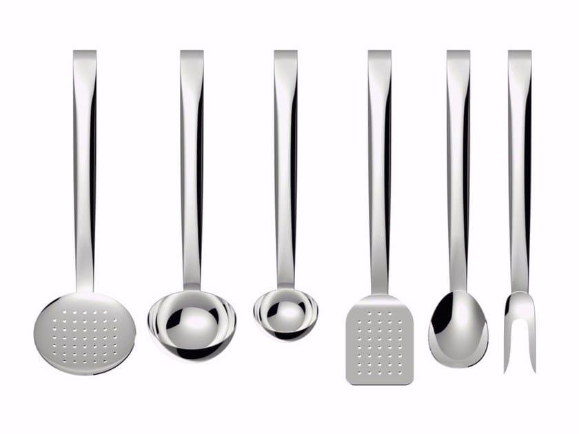 Set utensili da cucina in acciaio inox brigata by alessi design valerio sommella - Lista utensili da cucina ...