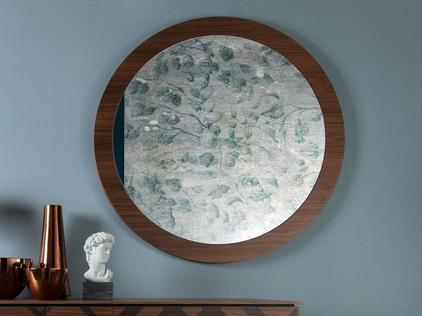 Round wall-mounted mirror BRIGITTE by Tonin Casa