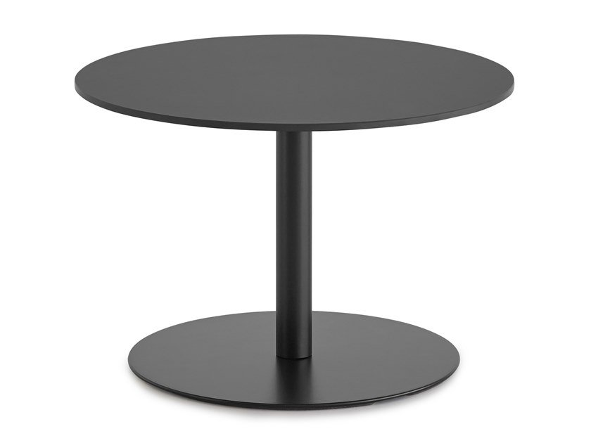 Lacquered round coffee table BRIO   Coffee table by Lapalma
