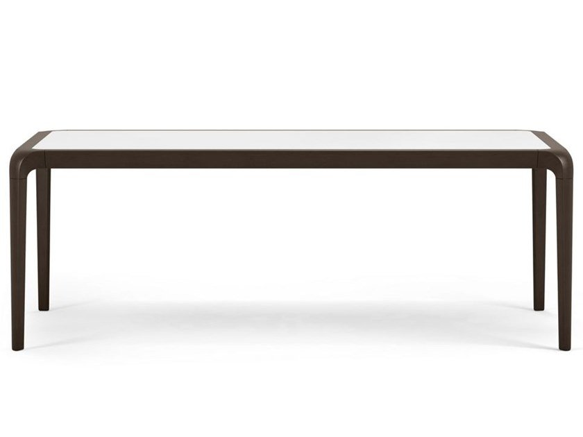Rectangular wooden and Daquacryl® dining table BRIO | Daquacryl® table by ROCHE BOBOIS