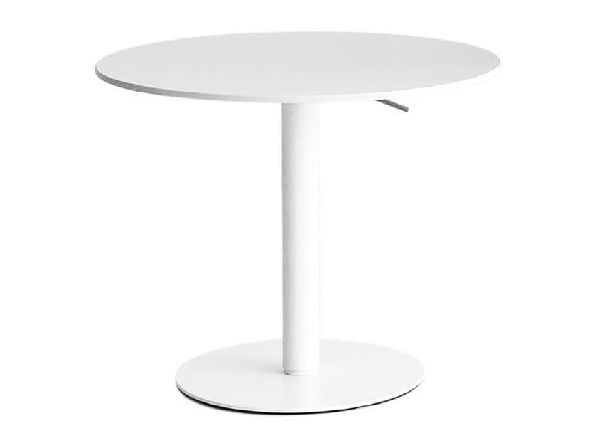 Height-adjustable round coffee table BRIO | Height-adjustable coffee table by Lapalma