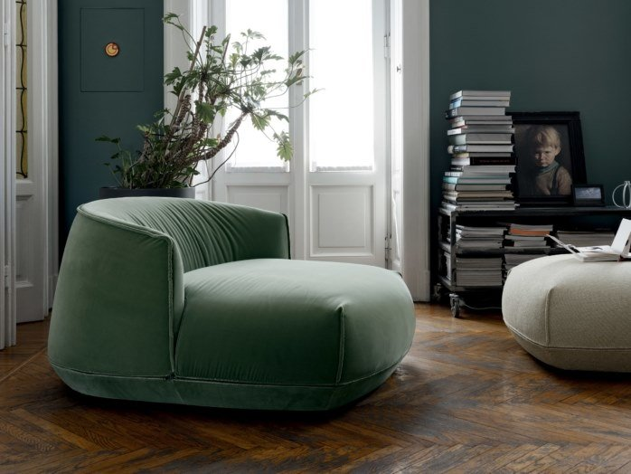 Upholstered fabric armchair BRIONI | Fabric armchair by Kristalia