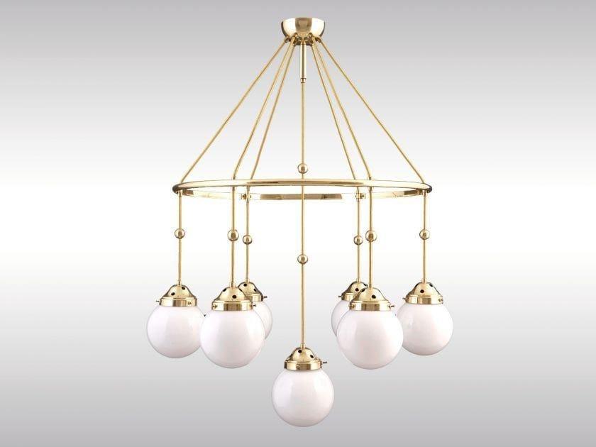 Lampada a sospensione in ottone in stile classico BRIONI by Woka Lamps Vienna