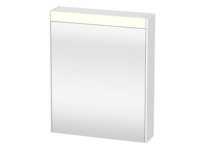 Wall-mounted mirror with cabinet with integrated lighting BRIOSO | Mirror with cabinet by Duravit