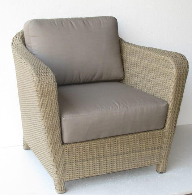 Fabric garden armchair with armrests BRITON | Garden armchair by Les jardins