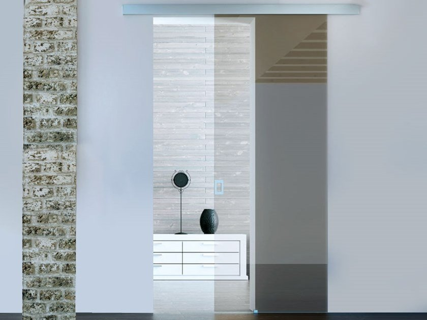 Sliding door track BRIXIA HEAVY OPTIONAL SOFT CLOSE by Metalglas Bonomi