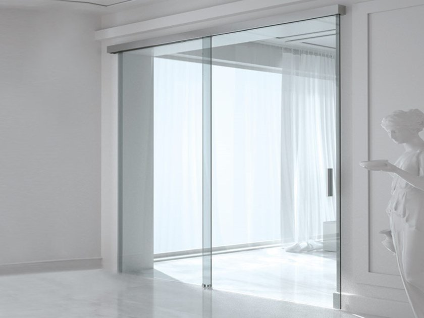 Sliding door track BRIXIA OPTIONAL SOFT CLOSE by Metalglas Bonomi