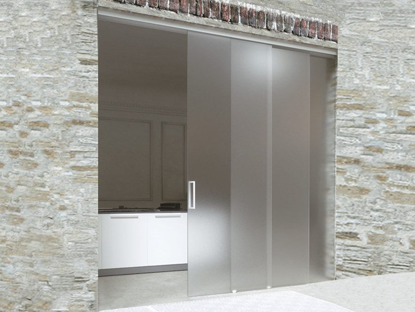 Sliding door track BRIXIA SINCRO 3 WAYS by Metalglas Bonomi