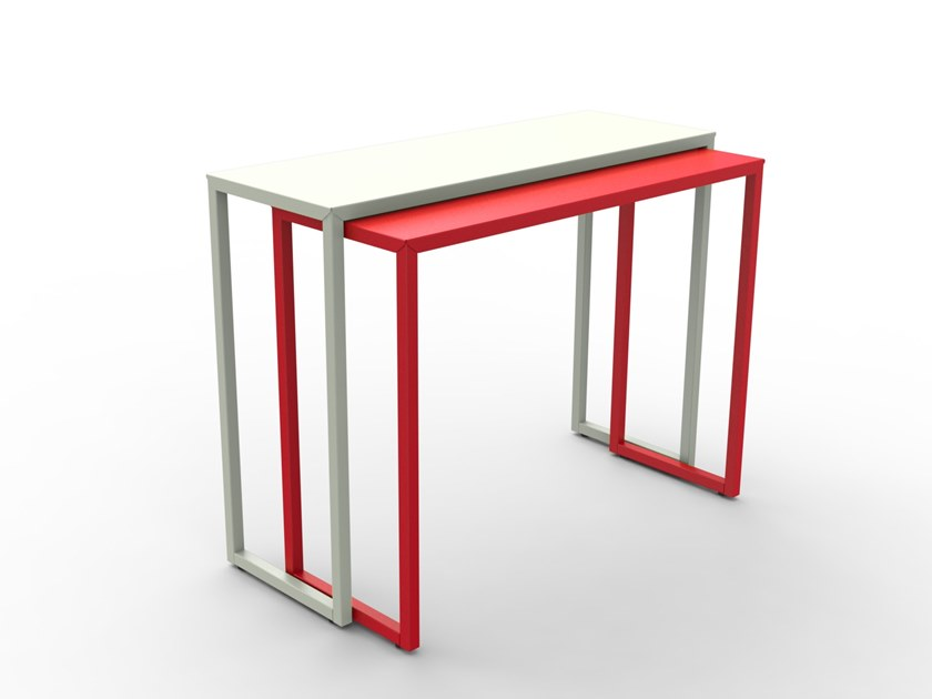 Powder coated steel console table BRIZ by Matière Grise