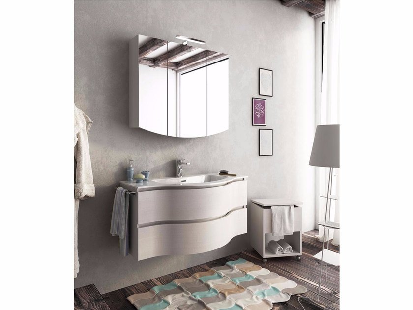 Single wall-mounted vanity unit with drawers BROADWAY B13 by LEGNOBAGNO