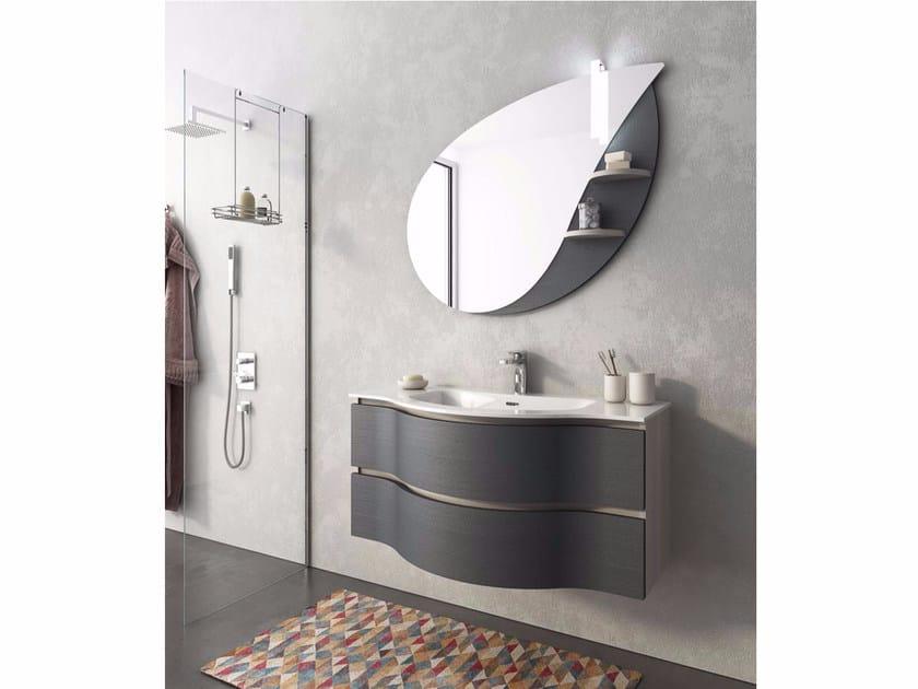 Mobile lavabo laccato sospeso con cassetti BROADWAY B14 by LEGNOBAGNO