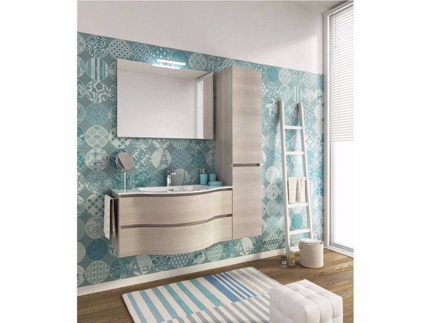 Single wall-mounted vanity unit with drawers BROADWAY B15 by LEGNOBAGNO
