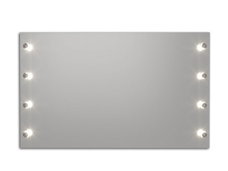 Wall-mounted mirror with integrated lighting BROADWAY S by FIT INTERIORS