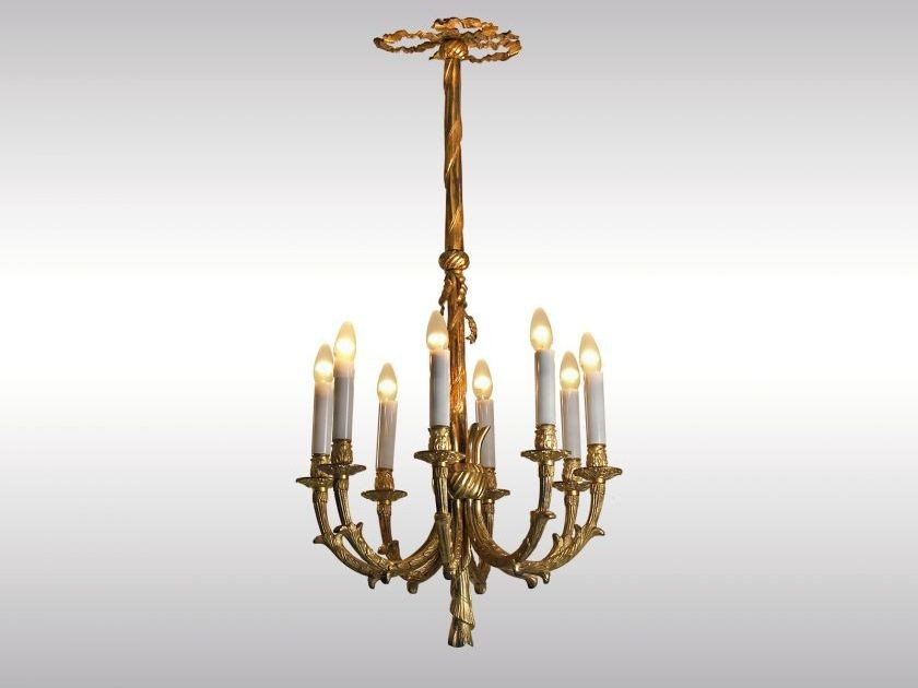 Classic style metal chandelier BRONZELUSTER by Woka Lamps Vienna