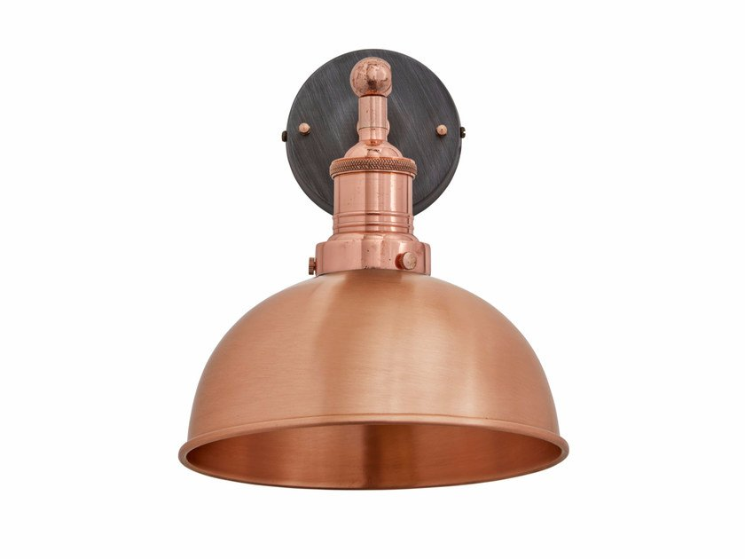 Copper wall lamp with fixed arm BROOKLYN DOME | Copper wall lamp by Industville