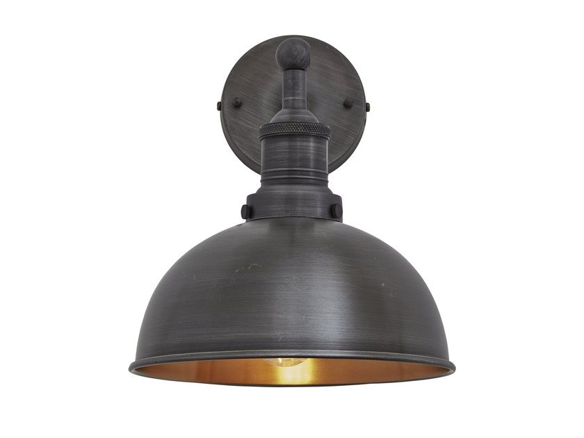 Iron wall lamp with fixed arm BROOKLYN DOME | Wall lamp by Industville