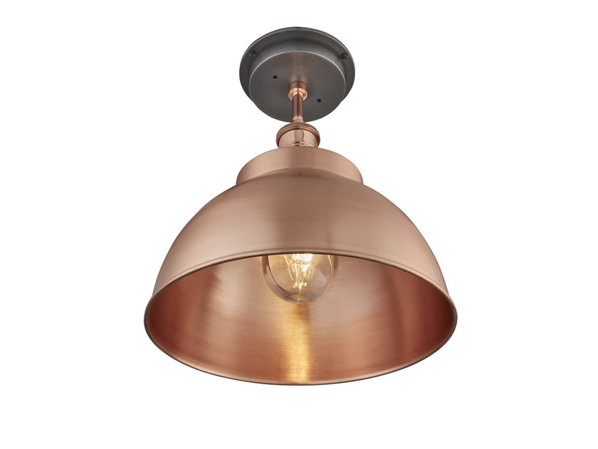 Lampada da soffitto in rame BROOKLYN OUTDOOR DOME FLUSH MOUNT | Lampada da soffitto in rame by Industville