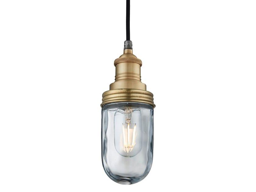 Lampada a sospensione per esterno in ottone e vetro BROOKLYN PENDANT by Industville