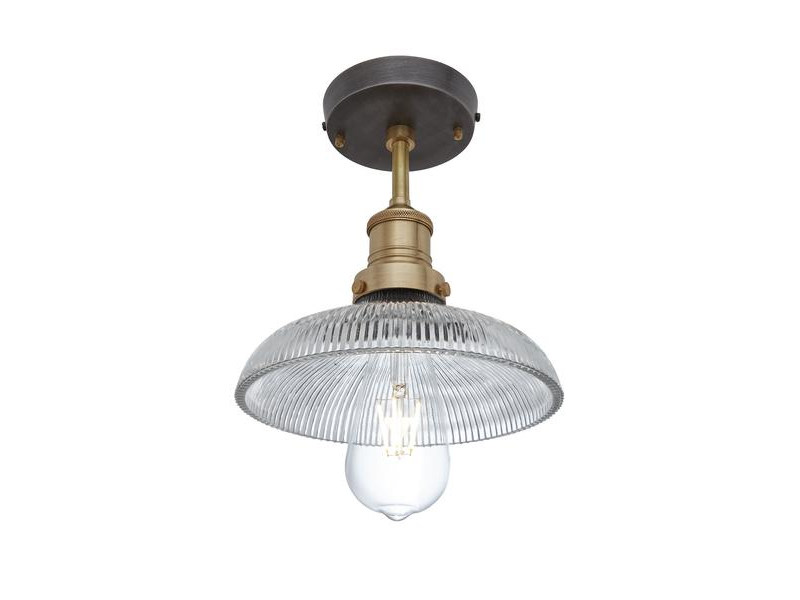 Glass ceiling lamp BROOKLYN RIBBED GLASS DOME | Ceiling lamp by Industville