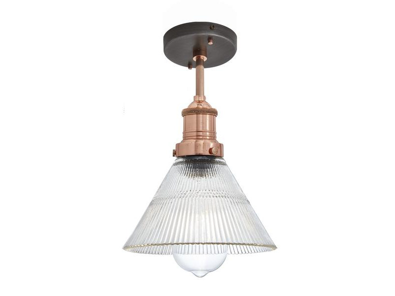 Glass ceiling lamp BROOKLYN RIBBED GLASS FUNNEL | Ceiling lamp by Industville