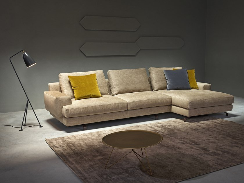 Sectional Sofa With Chaise Longue BROOKLYN | Sofa With Chaise Longue By  Metraform
