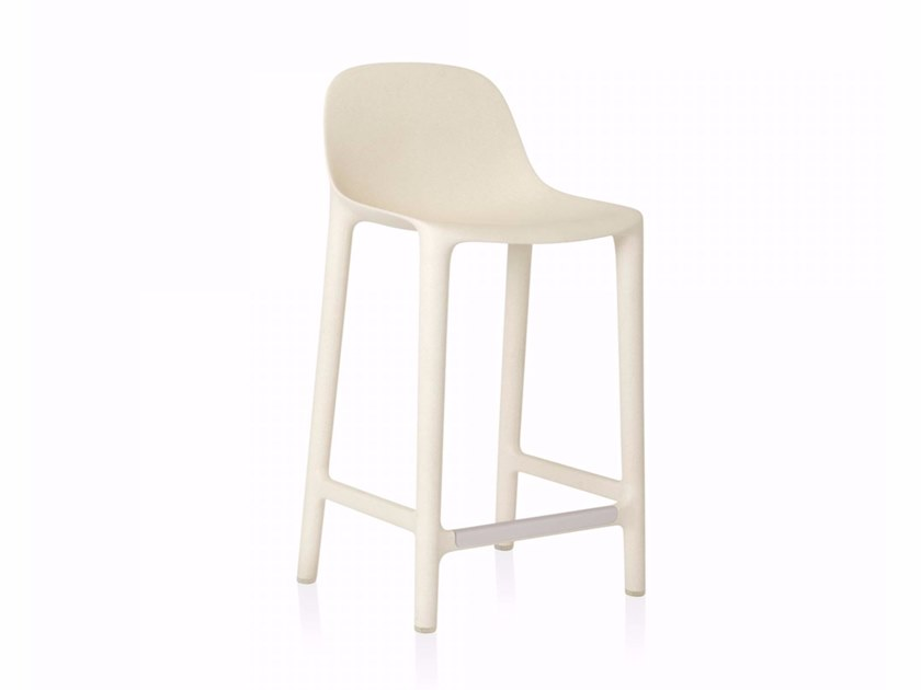 Polypropylene stool with footrest BROOM | Stool by Emeco