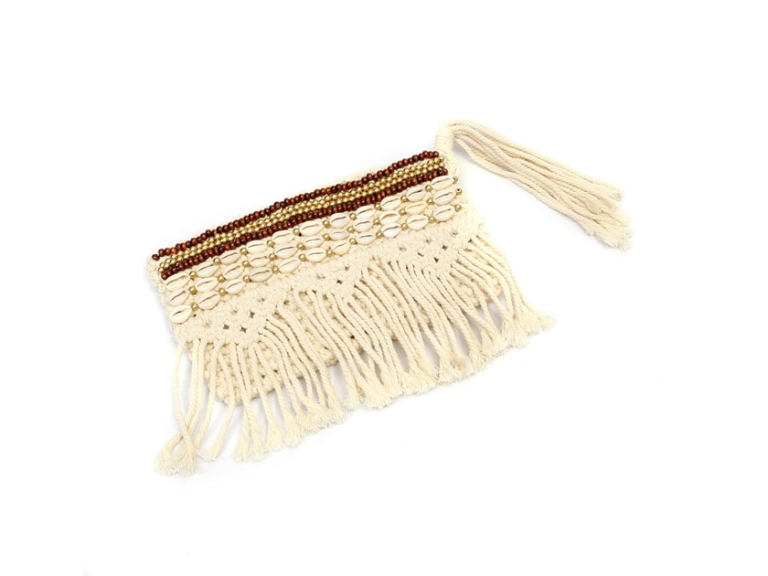 Cotton bag BROWN GOLD MACRAME by Bazar Bizar