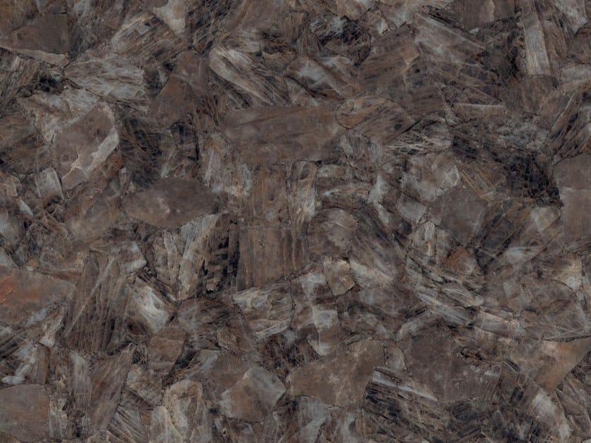 Pavimento/rivestimento in gres porcellanato effetto marmo BROWN QUARTZ by ARIOSTEA