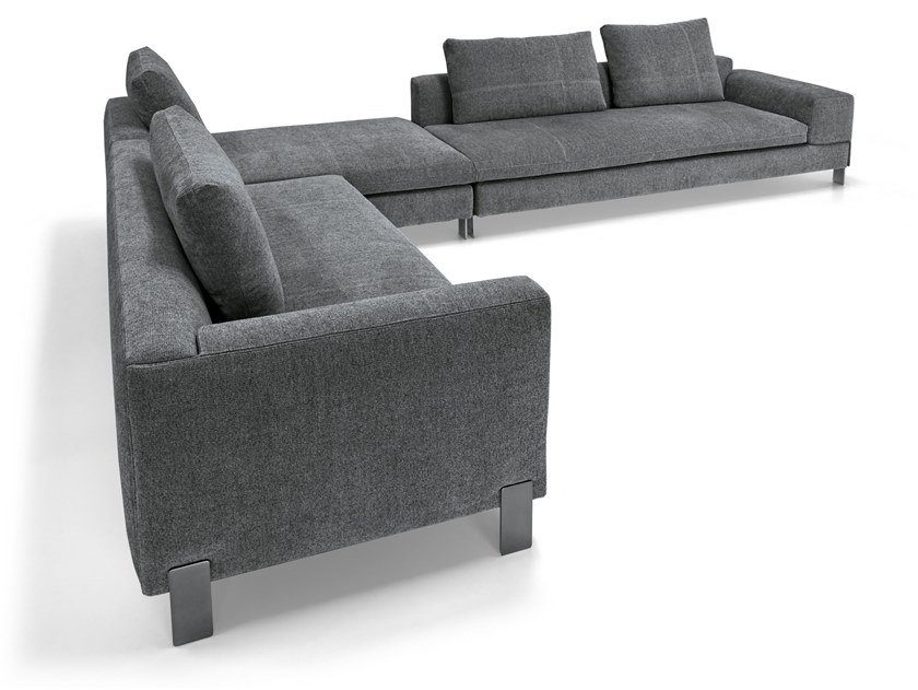 Corner fabric sofa BROWN SUGAR   Corner sofa by Arketipo