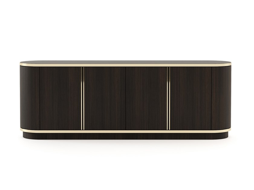 Wooden sideboard with doors BROWN | Wooden sideboard by Laskasas